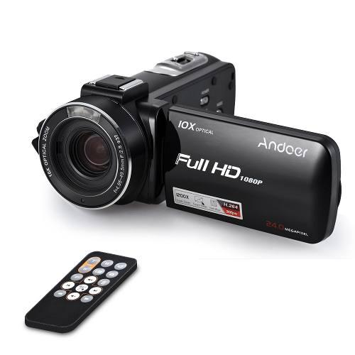 Andoer hdv-z82 1080p full hd 24mp videocámara digital