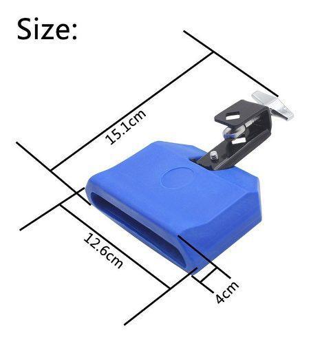 Azul batería de percusión bloque campana cencerro campana
