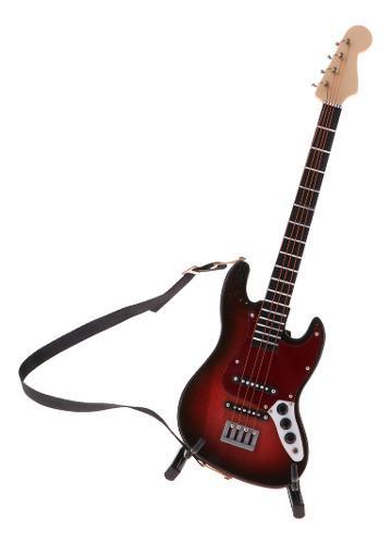 Bajo eléctrico de madera modelo de instrumento musical