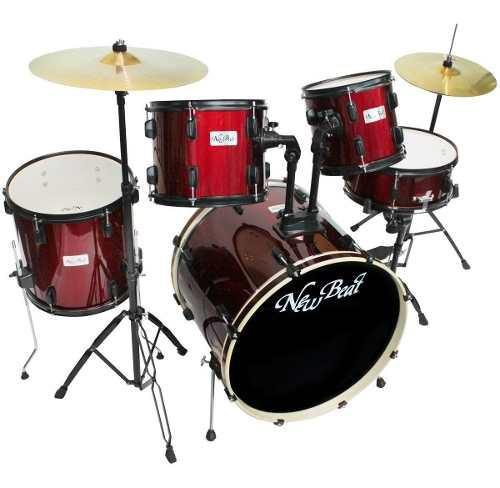 Bateria new beat acustica nb320set-bkhw