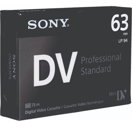 Cassette dv sony minidv cinta de videocámara dvm63ps