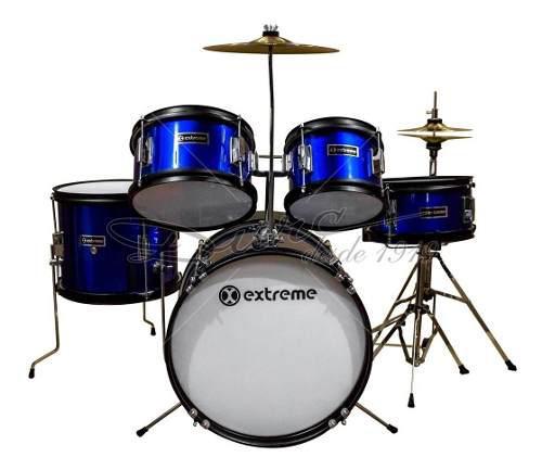 Extreme bateria junior, azul rayado