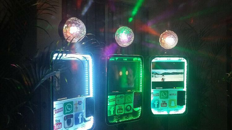 Karaoke tipo mini iphone con luces led san pedro monterrey