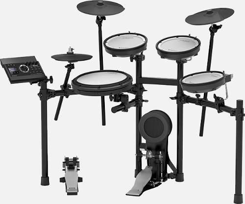 Kit de batería td-17kv c stand mds-com pedal d bombo y