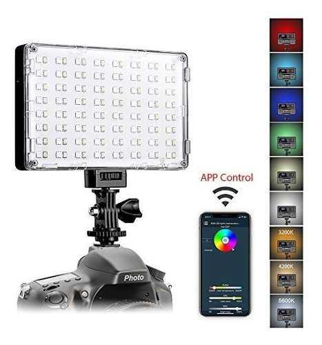 Luz led para videocámara gvm great video maker rgb -negro