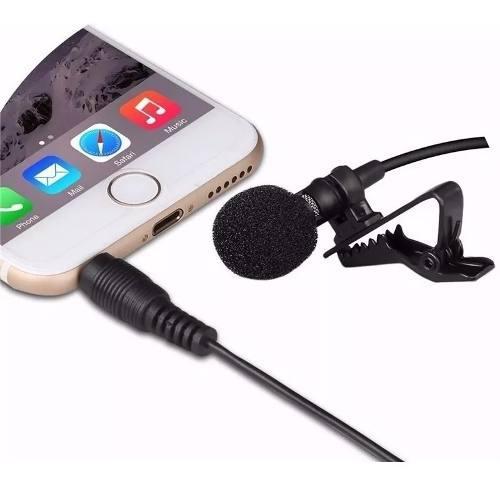 Micrófono lavalier de solapa smartphone clip condensador