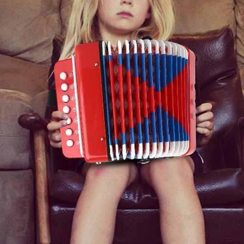 Niños 7- clave 2 bajo mini pequeño accordion educativo mus