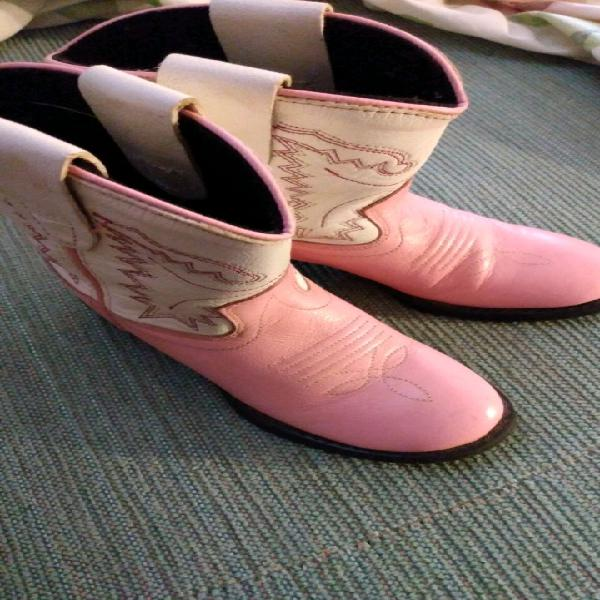 Old west pink pair boots size 5.0