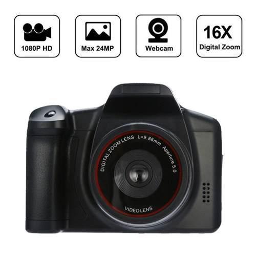Videocamara de video hd 1080p camara digital de mano negro