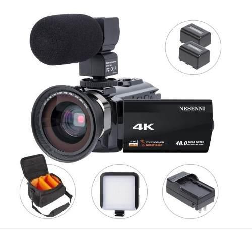 Videocámara 4k alta resolución 48mp grabador de