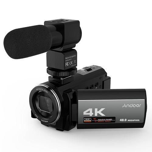 Videocámara andoer 4k 48mp wifi con cámara de video
