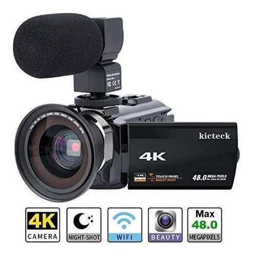 Videocámara camcorder 4k kicteck ultra hd 200067