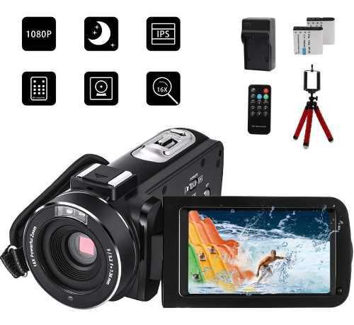 Videocámara digital 1080p 24mp full hd touch screen