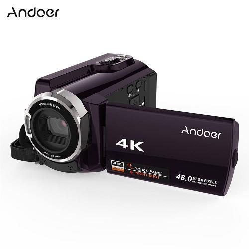 Videocámara digital andoer hdv-534k 4k 48mp wifi khaki
