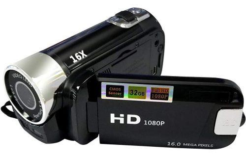 Videocámara full hd 1080p 16 mp zoom 16x mic pantalla lcd