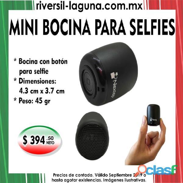 Mini bocina para selfies nextep