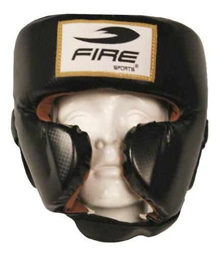Careta pomulo fire sports protector cabeza pvc box mma artes