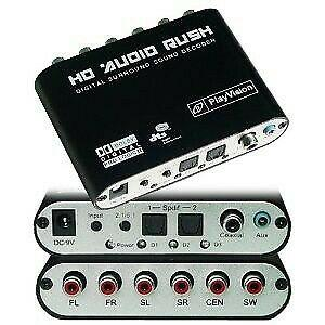 Convertidor audio optico digital a análogo 2 o 5.1 canales