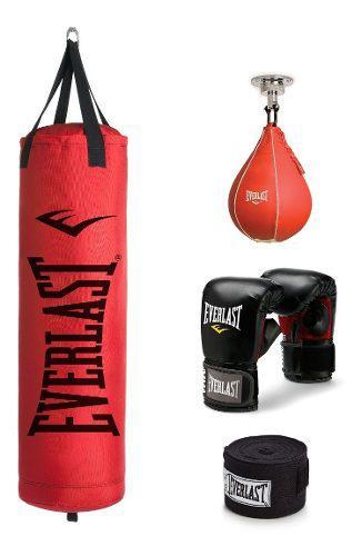 Costal de boxeo everlast canvas 70 lb envío gratis msi