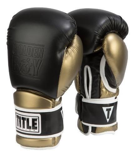 Guantes box title pro golden boy 14y16 piel vendas de regalo