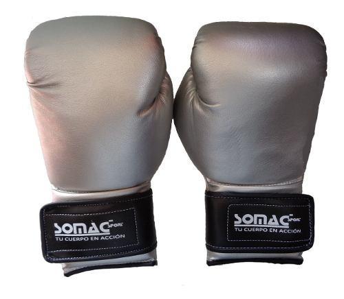 Guantes de box marca somac terminado metal 12 a 16 oz.