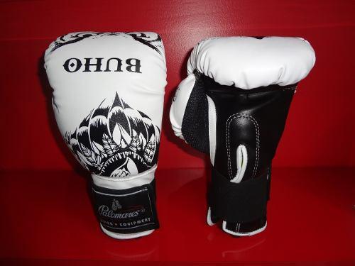 Par de guantes box piel sintet boxing gear buho palomares