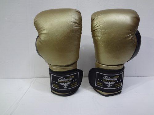 Par guantes box de piel gold 12 y 14 oz palomares genuino