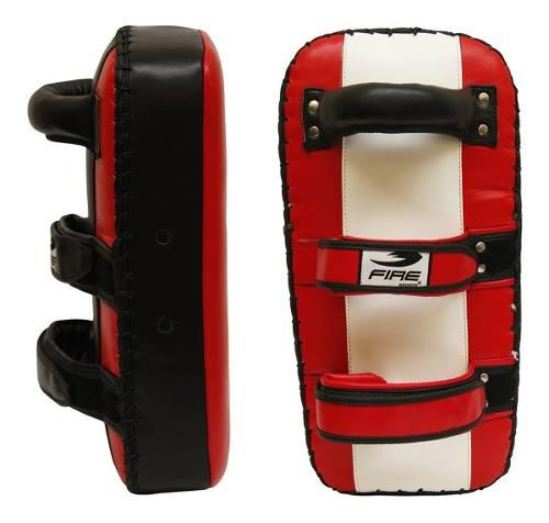 Par thai pads 100% piel fire sports planos box mma kick