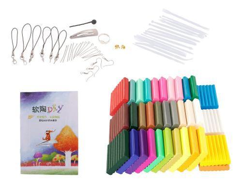 36 colores suave polímero de arcilla bloques diy modelado