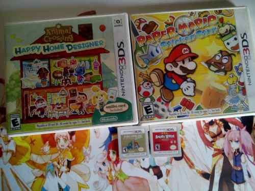 Lote d 3ds mario paper,fire emblema,animal crossing,angry