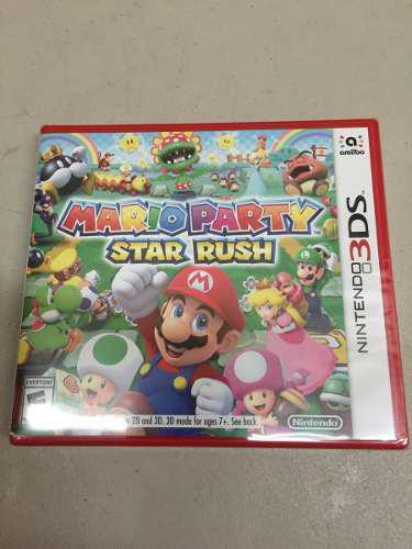 MARIO PARTY STAR RUSH NINTENDO 3DS NUEVO SELLADO ENVIÓ, usado segunda mano  México (Todas las ciudades)
