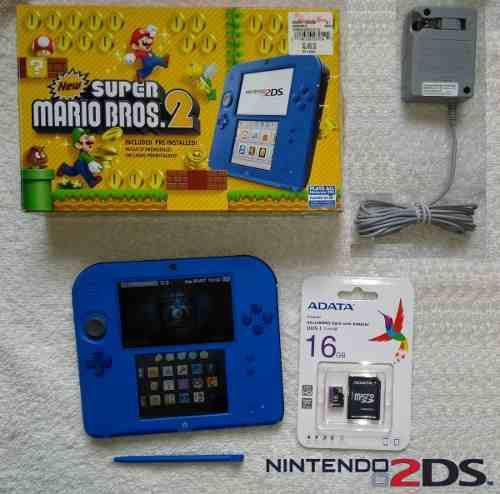 Nintendo 2ds electric blue 16 gb