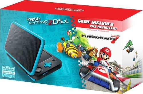 Nintendo - new 2ds xl mario kart 7 bundle - black + turquois