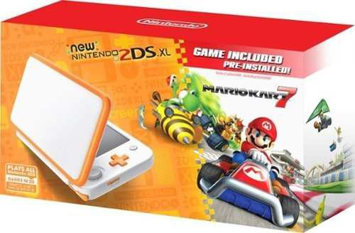 Nintendo - new nintendo 2ds xl with mario cart 7 - orange