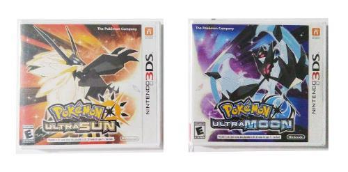 Pokemon ultra moon + ultra sun nuevos nintendo 3ds n3ds new