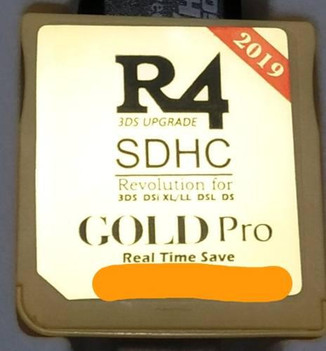 R4 gold pro 2019 + stylus retractil metalico 3ds o new xl