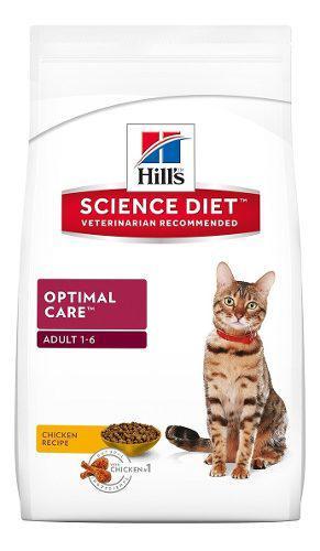 Alimento croquetas optimal gato adulto pollo 3.1 kg hill's