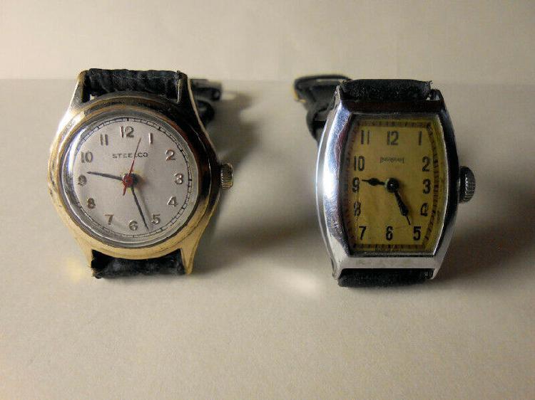 Antiquisimos relojes de pulso mecanicos