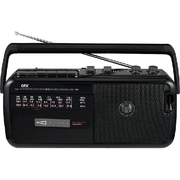 GRABADORA RADIO A CASSETTE FM SW AM QFX J-19 segunda mano  Monterrey (Nuevo Leon)
