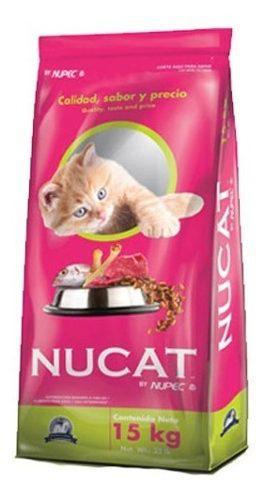 Nucat 15kg croqueta alimento gato todas las edades by nupec