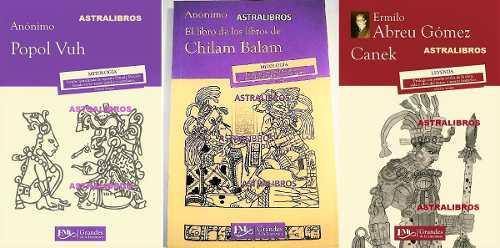 Popol vuh + chilam balam + canek paquete 3 libros