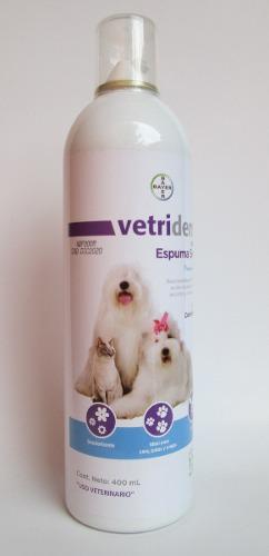 Vetriderm essec espuma seca 400 ml baño en seco perros