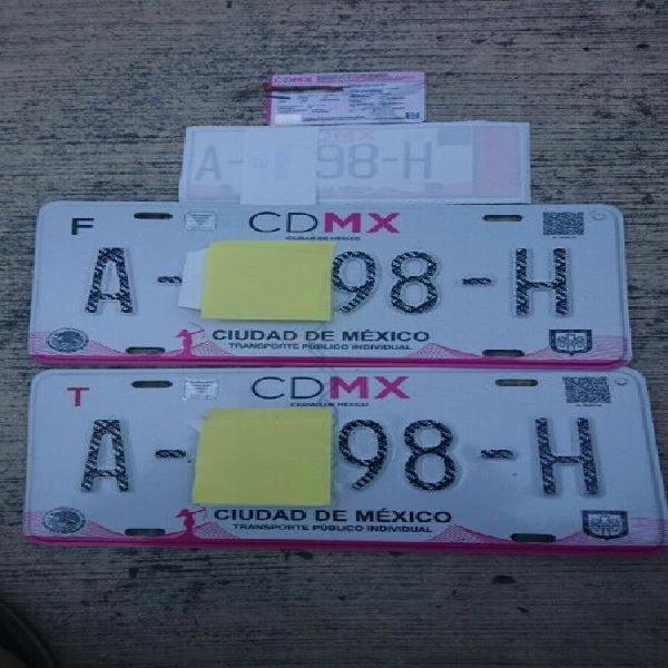 Placas taxi cdmx nuevas