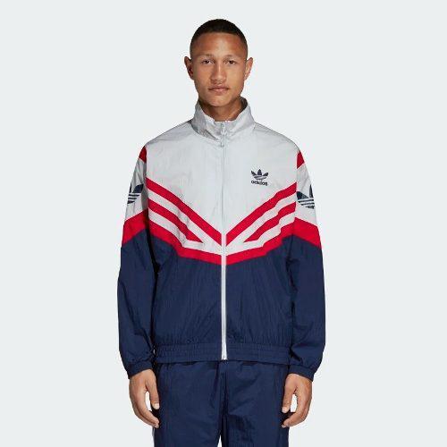 Adidas sportive track top gris rojo hombre original msi