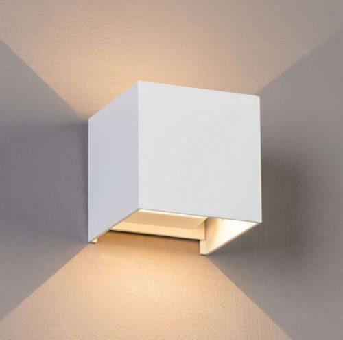 Arbotante para muro led cuadrado, blanco, negro, luz