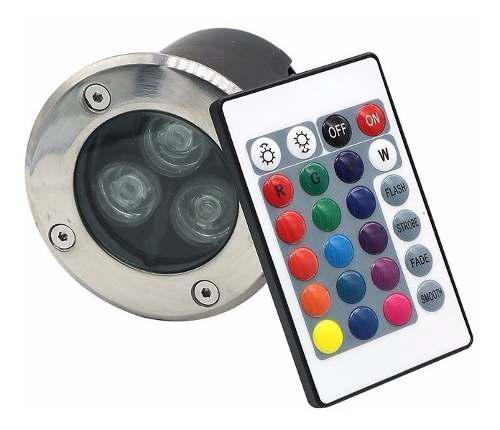 Empotrable para pisos spot led de 3w rgb lampara 20 piezas