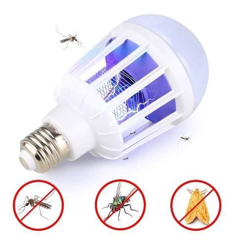 Foco led 12w externinar mosquitos sancudos moscas palomitas