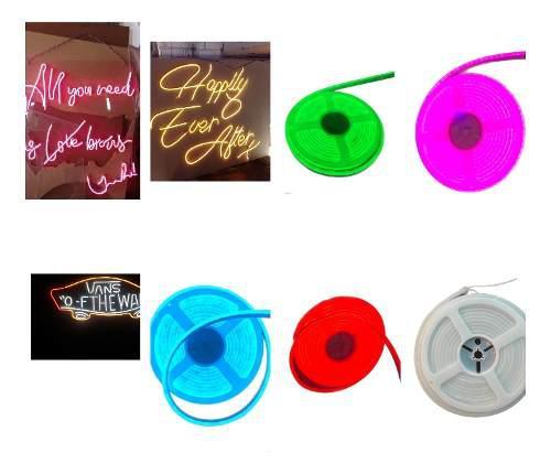 Manguera tira neon led flexible 5 mts diferentes colores