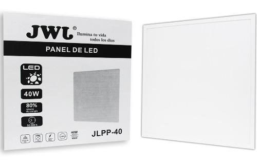 Panel 40w empotrar 60x60 luz blanca con driver jwj 12 piezas