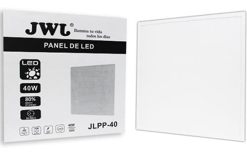Panel 40w empotrar 60x60 luz blanca con driver jwj 6 piezas